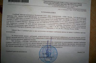 заявление о вынесении судебного приказа о взыскании задолженности