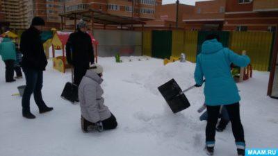 уборка придомовой территории в зимний период